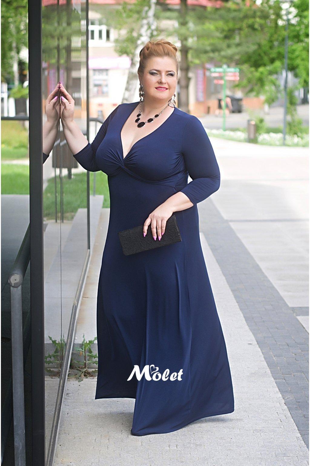 Alexa dlouhé šaty modré
