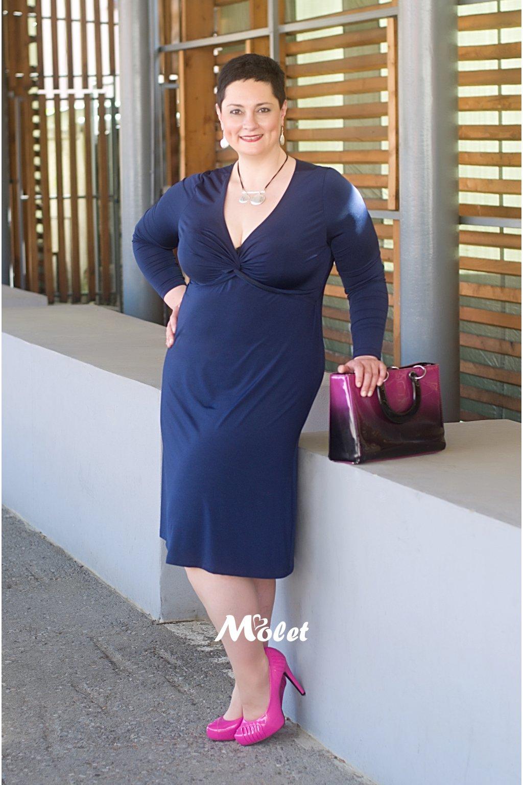 Alexa volné šaty modré