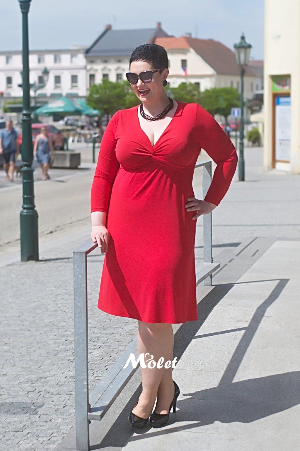 Alexa volné šaty červené