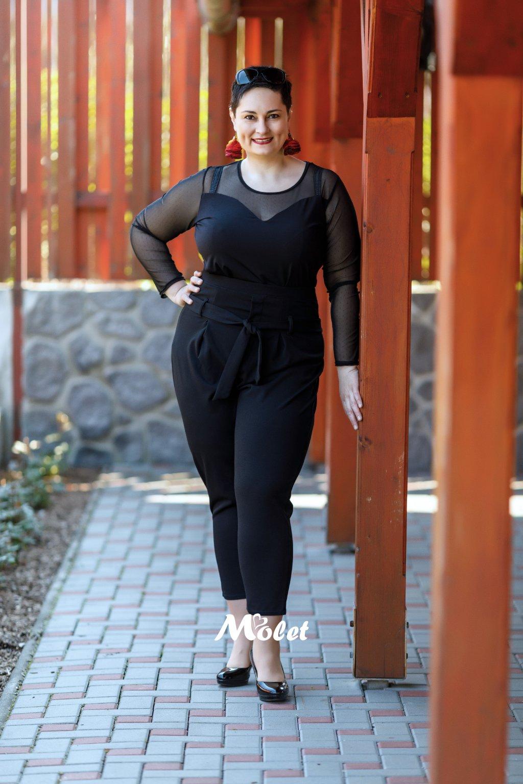 Newark černé klasické kalhoty