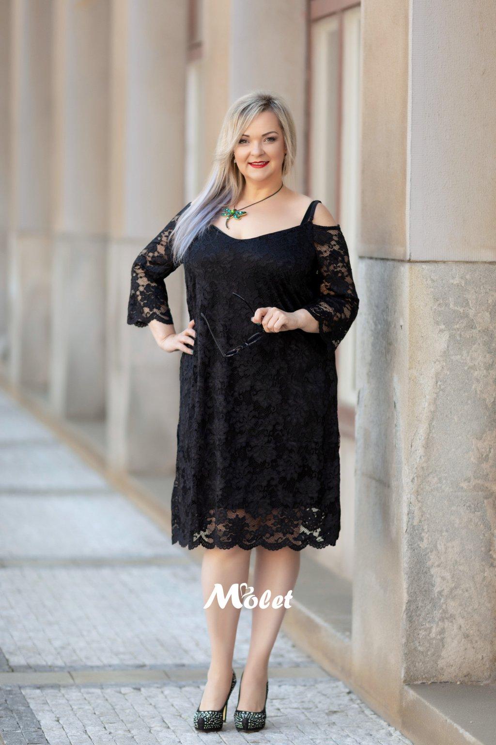 Survival krajkové šaty černé