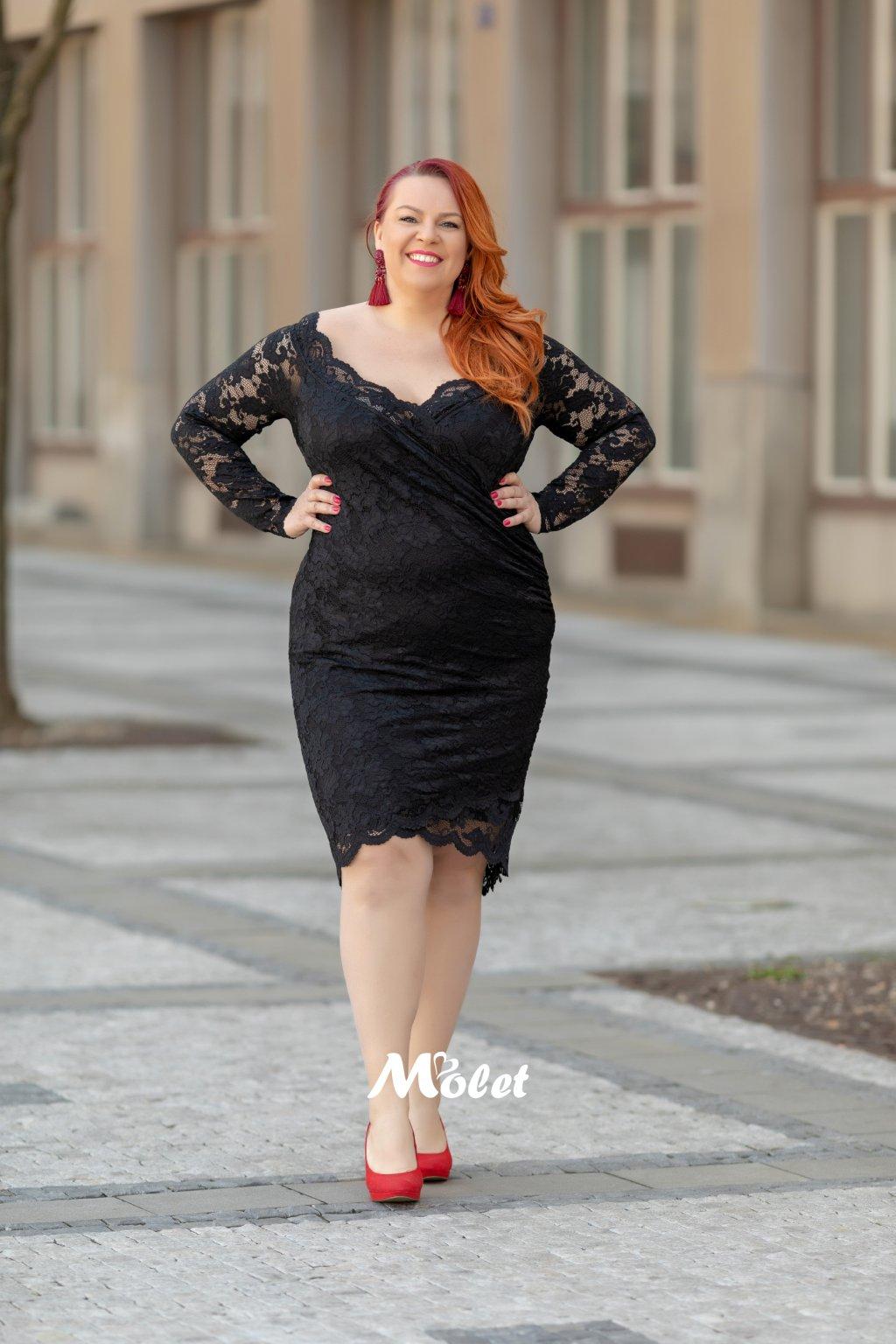 Blaby krajkové šaty černé