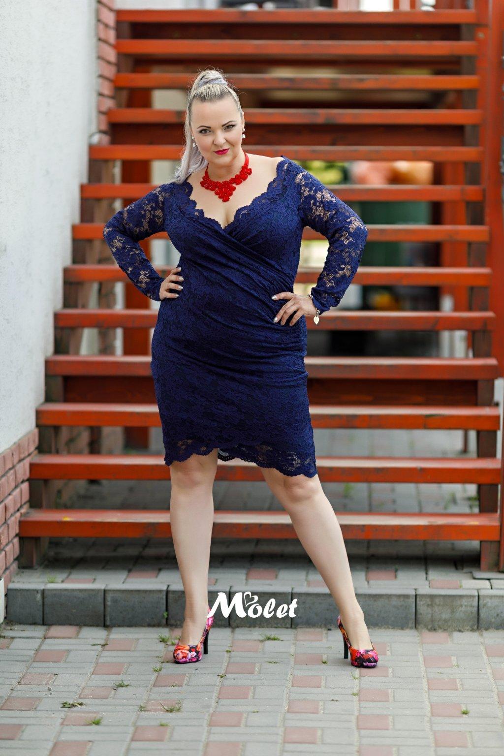 Blaby krajkové šaty modré