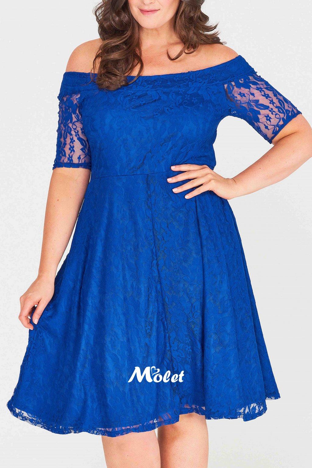 Cos krajkové šaty modré
