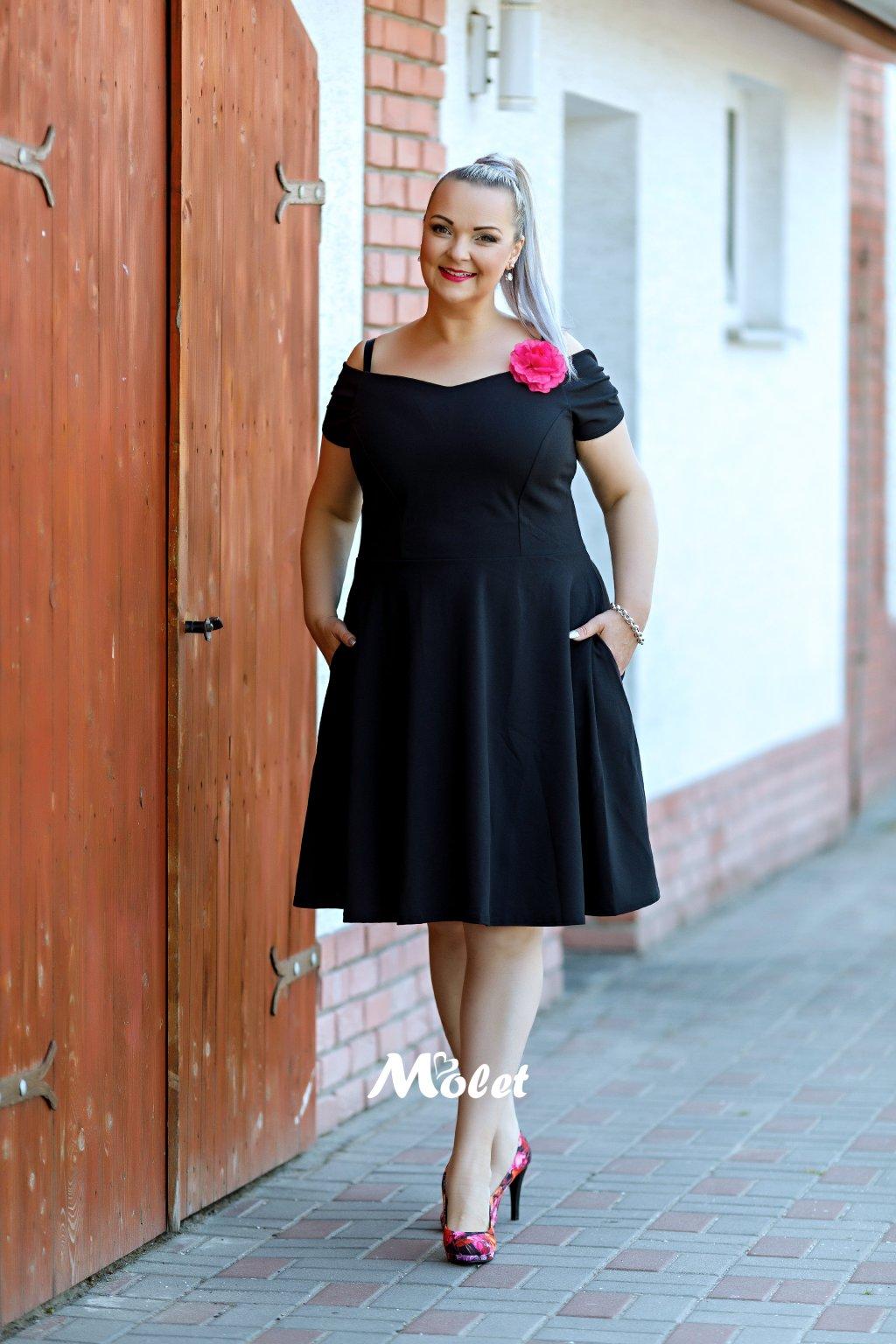 Honey černé šaty s kolovou sukní