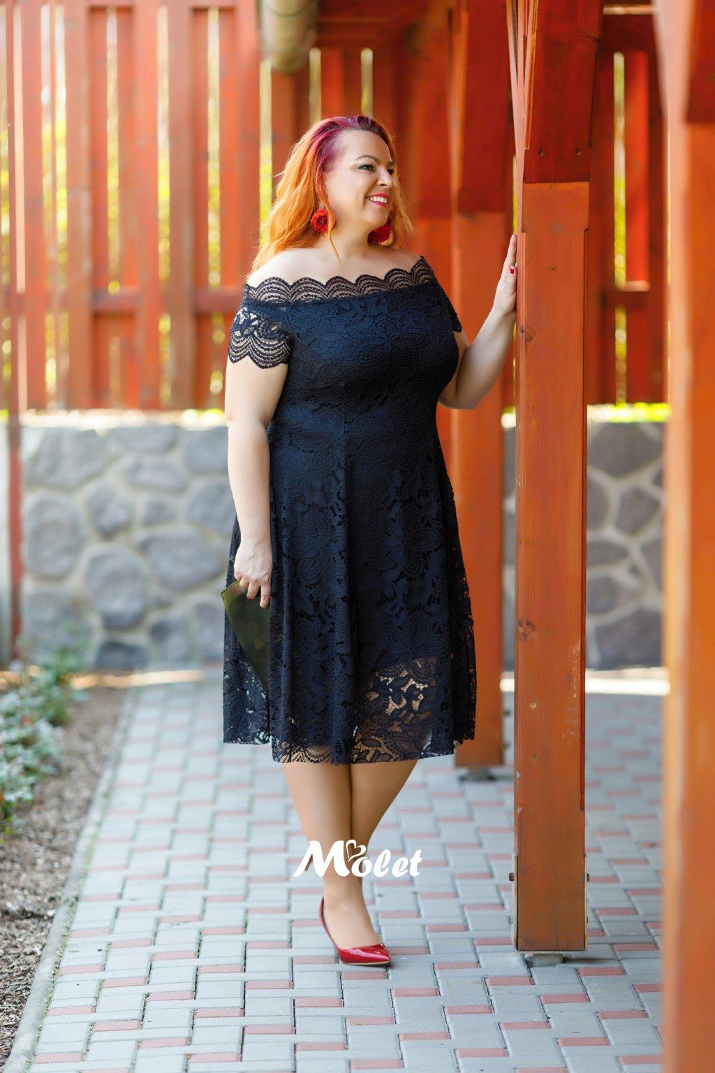 Avant černé krajkové šaty