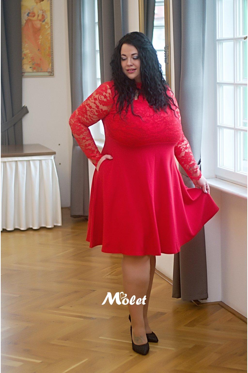 Ripley společenské šaty červené