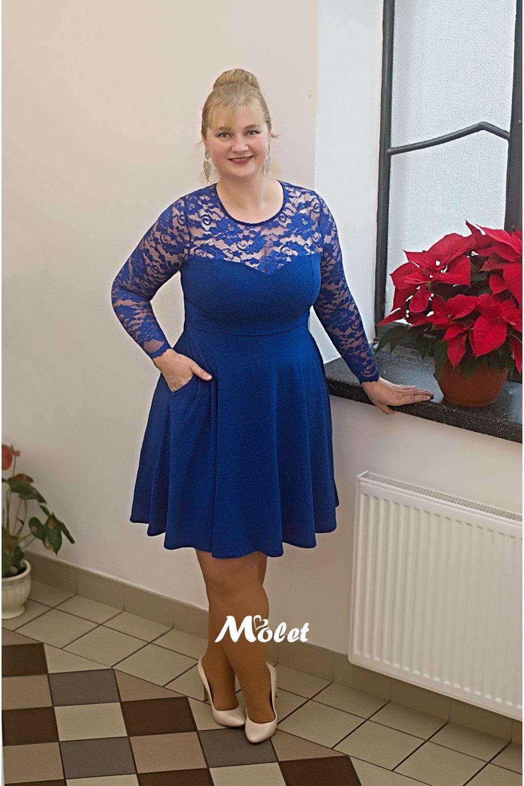 Katrus šaty královsky modré