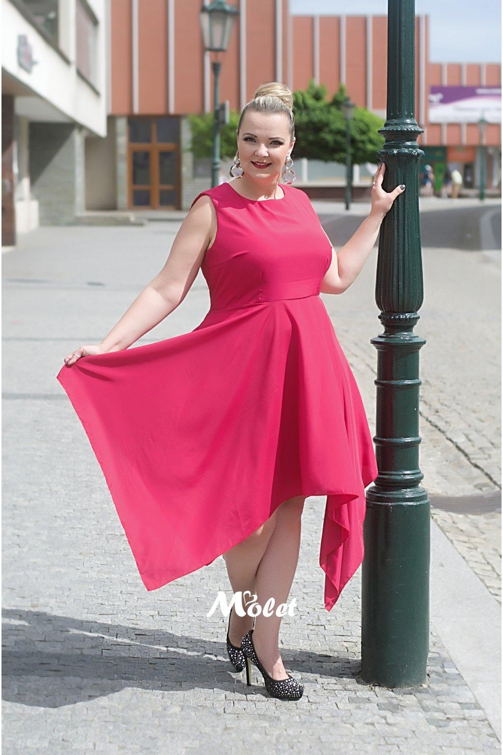 Zendana tmavě růžové šaty