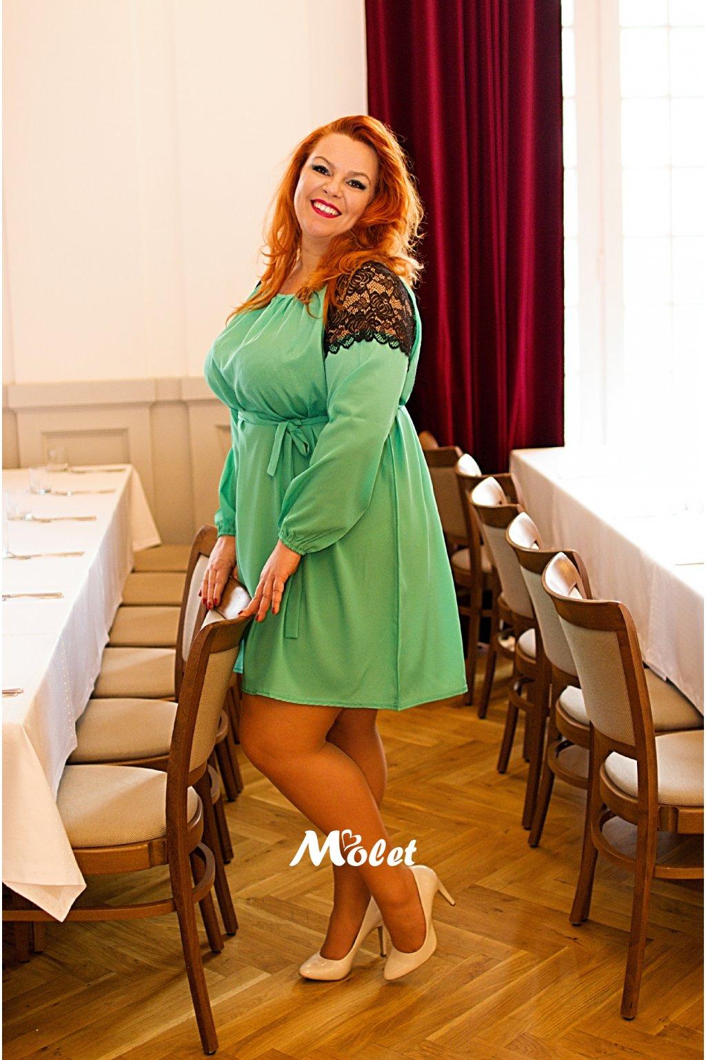 Greta zelené šaty