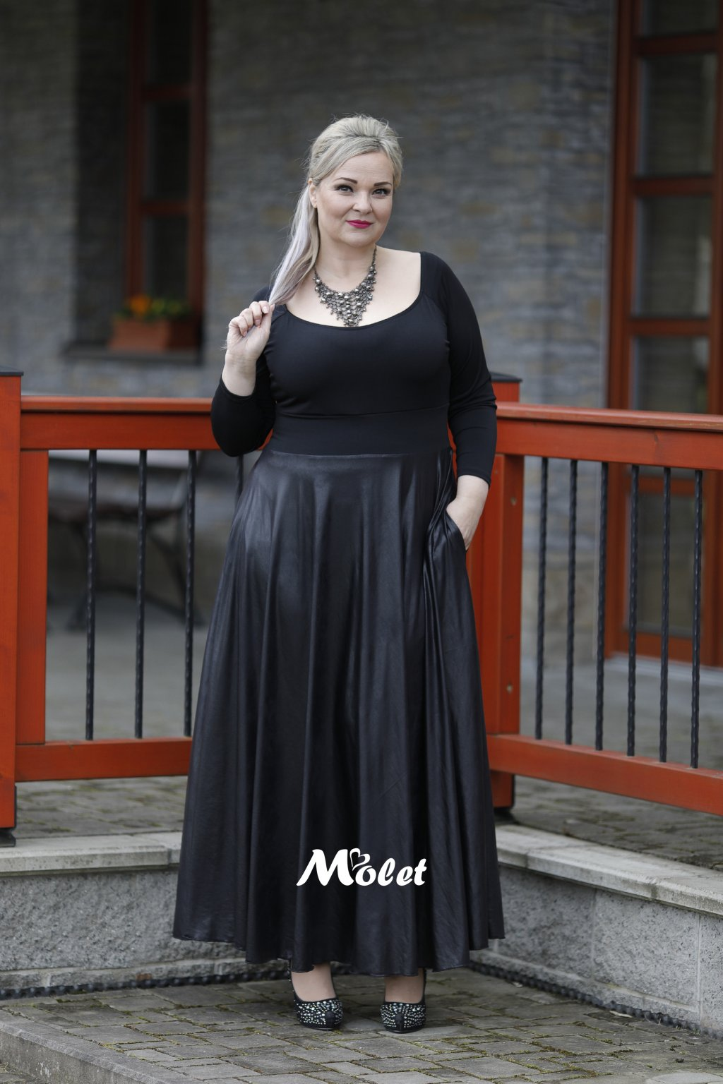 šaty pro plnoštíhlé Molet.c