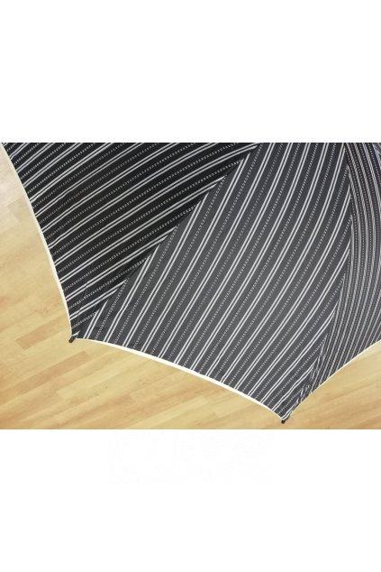 Deštník pánský holový černý s pruhy