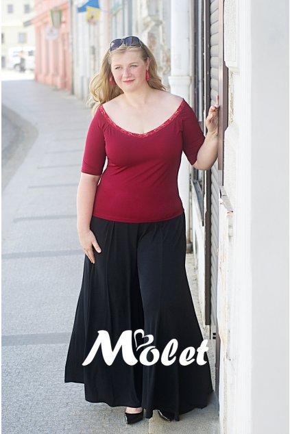 Lisa kalhotová sukně černá