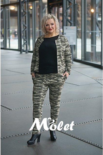 DITA sportovní maskáčové kalhoty s kapsami khaki