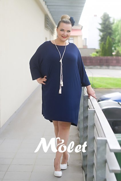 Soul modré tuniko šaty