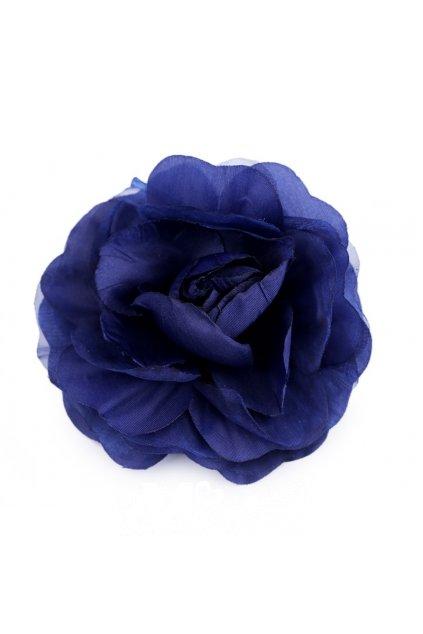 Brož růže modrá