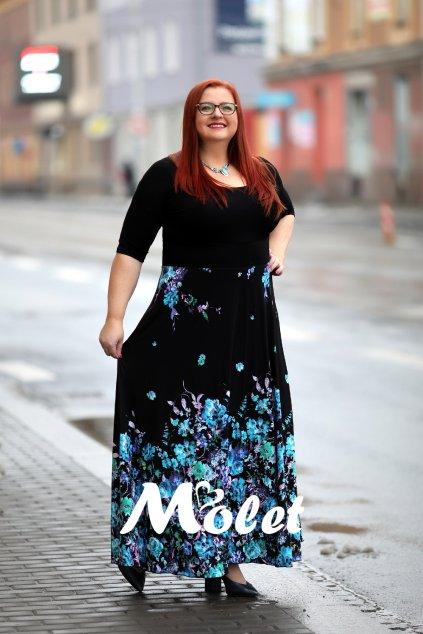 Magda dlouhé šaty Aqua
