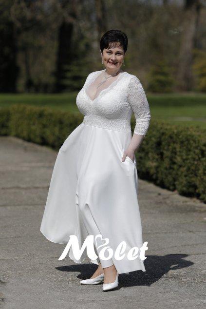 svatební šaty pro plnoštíhlé Molet.cz