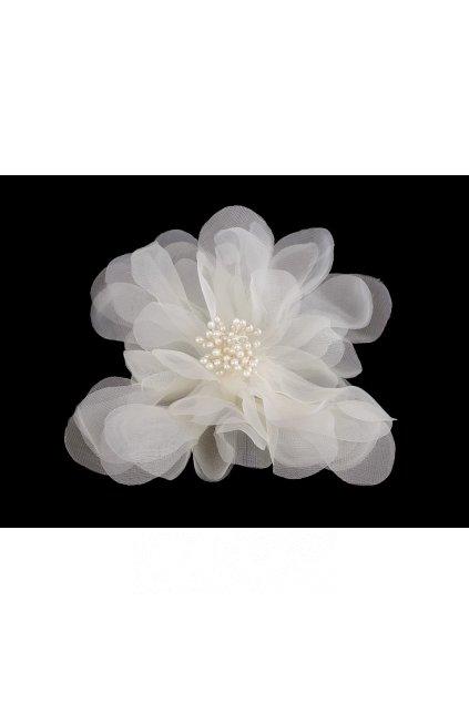 Brož růže bílá