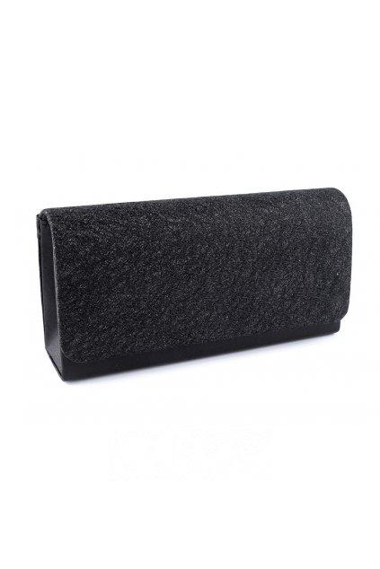 Psaníčko kabelka malá černá s leskem