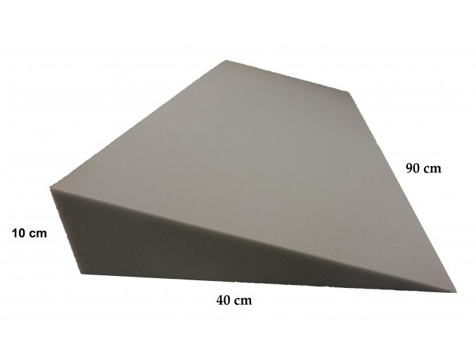 Molitanový podhlavník 90x40x10/0 cm, bez potahu
