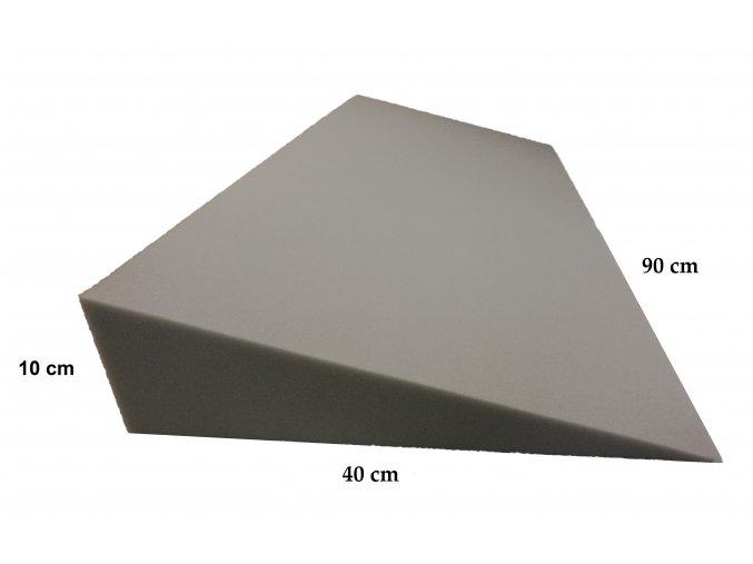 Molitanový podhlavník 90x40x11/0 cm, bez potahu