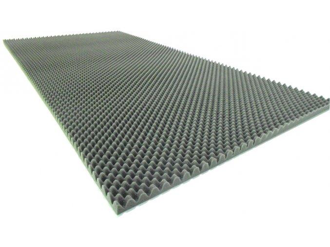 Černý profilovaný molitan 200x100x5/2 cm  akustický molitan