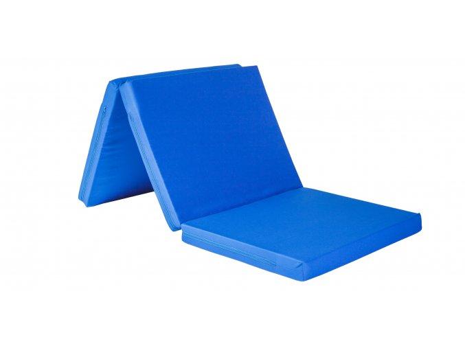 Skládací matrace 195x160x8 cm - KEPR - VÝPRODEJ  barva: modrá