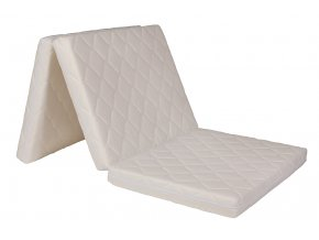 Skládací matrace 195x90x8 cm  Potah TRIMTEX, barva: bílá