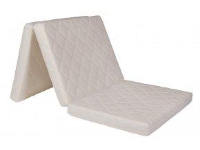 Skládací matrace 195x100x8 cm  Potah TRIMTEX, barva: bílá