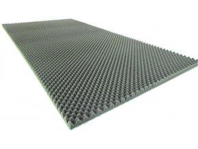Profilovaný molitan 200x100x5/2 cm  hořlavost: standardní; barva: antracit