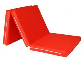 Skládací matrace 195x80x8 cm - KEPR - VÝPRODEJ  barva: oranžová