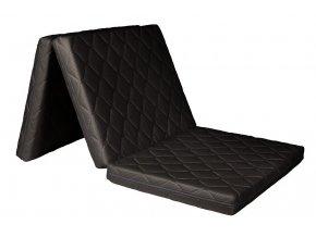 Skládací matrace 195x90x8 cm  Potah MOLMAT BLACK, barva: černá
