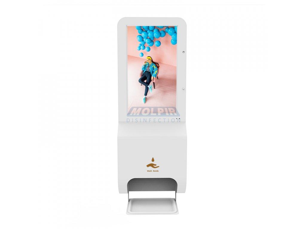 """Monitor 21,5""""; montáž na stenu, so sprejovým dávkovačom dezinfekcie; rozlíšenie 1920*1080; OS Android, touchscreen obrazovka"""