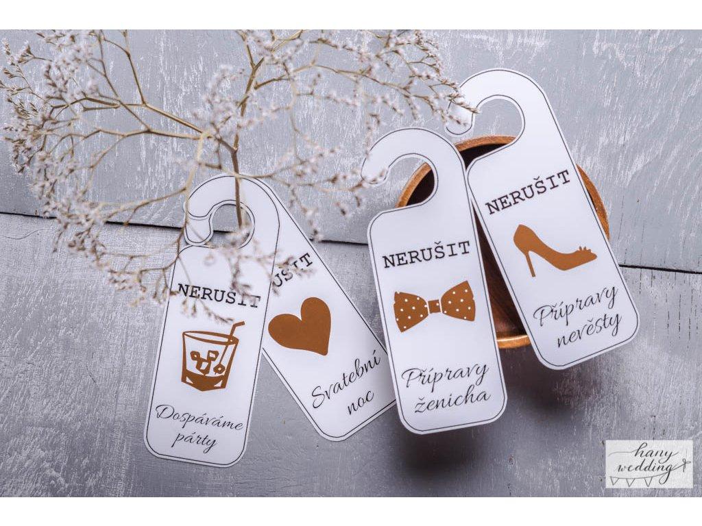 9 Svatební visačky na dveře (2)