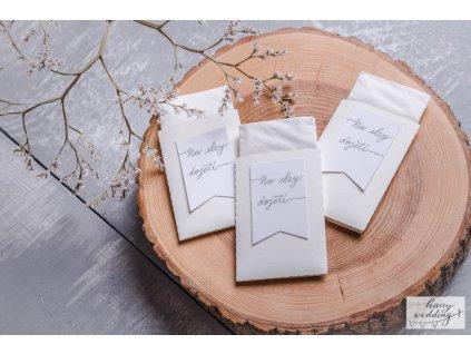 Svatební kapesníčky na slzy_bílé