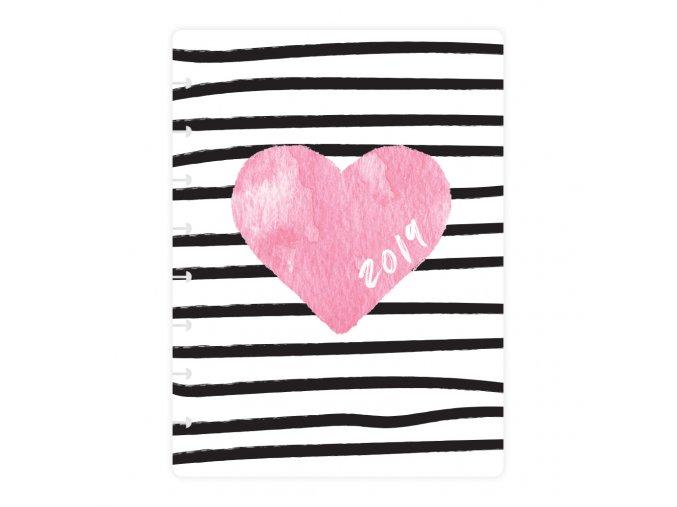 Desky Kalendarium 19 Srdce bezkoleček Front