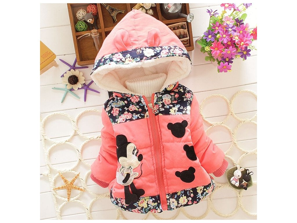 512868e909 Big Size Baby Girls Jackets 2017 Autumn Winter Jacket For Girls Winter  Minnie Coat Kids Clothes