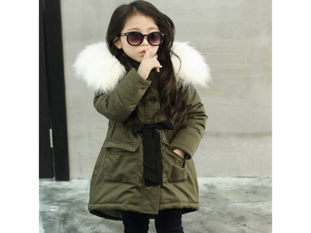d5fba106e0f Korean Brand Girls Jackets Kids Faux Fur Collar Coat Children Winter  Outwear 3 11 years old
