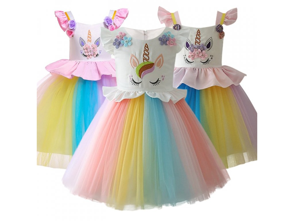c7b04fe812ab 2018 New style 2 10 year summer dress Unicorn children princess dress  Children s clothing girls