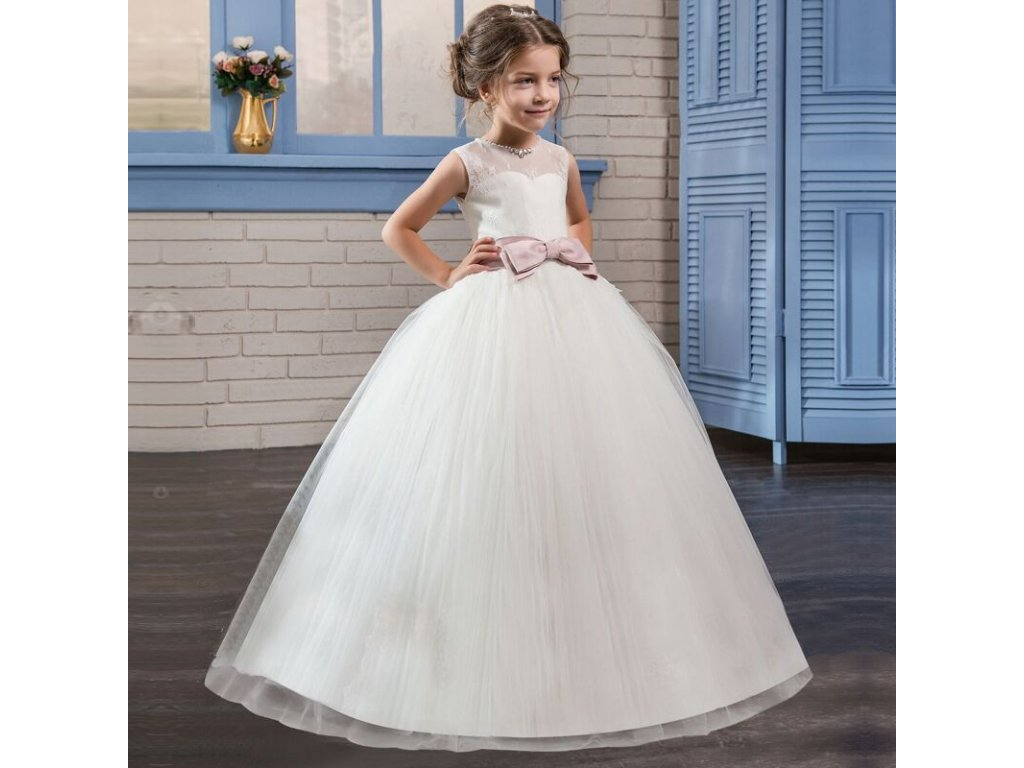 Fancy Flower Long Prom Gowns Teenagers Dresses for Girl Children Party  Clothing Kids Evening Formal Dress 809ba02de36
