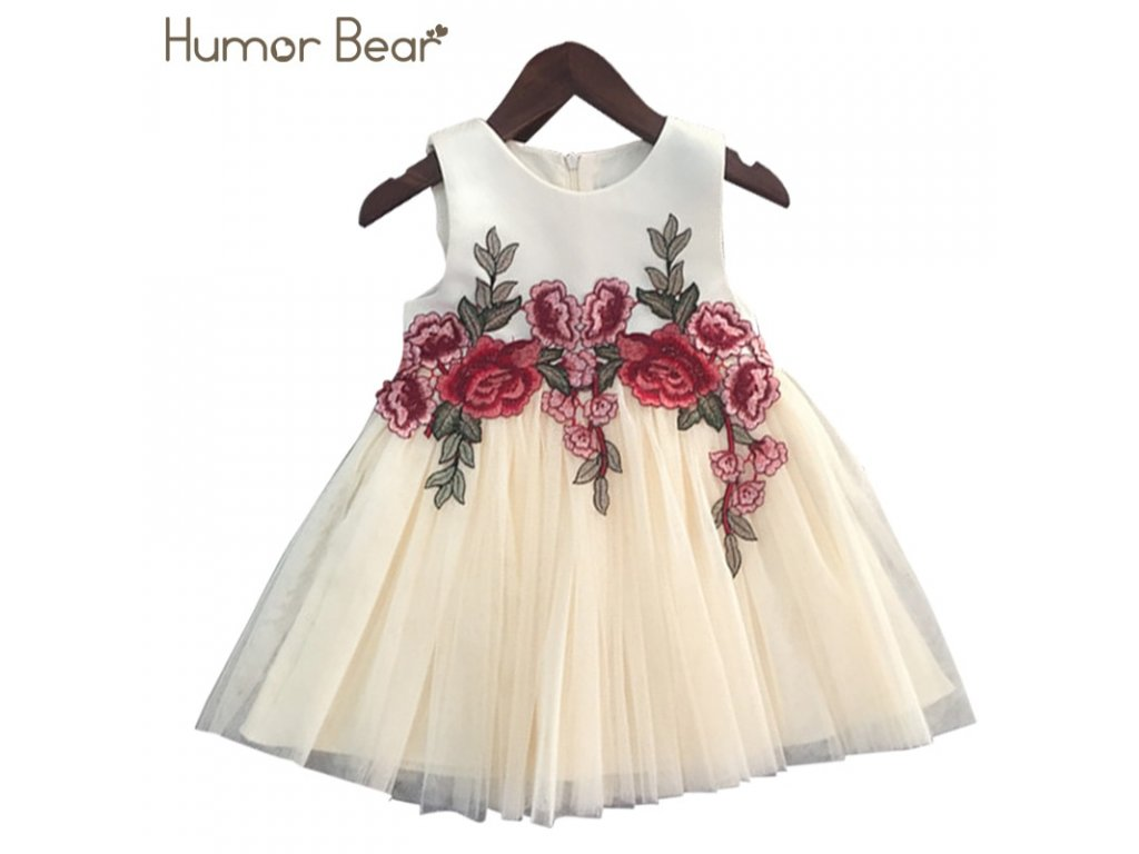 Humor Bear Girls Dresses 2018 Summer Style Girls Clothes Sleeveless  Embroidery Design for Child kids Princess 71cb3c527a8