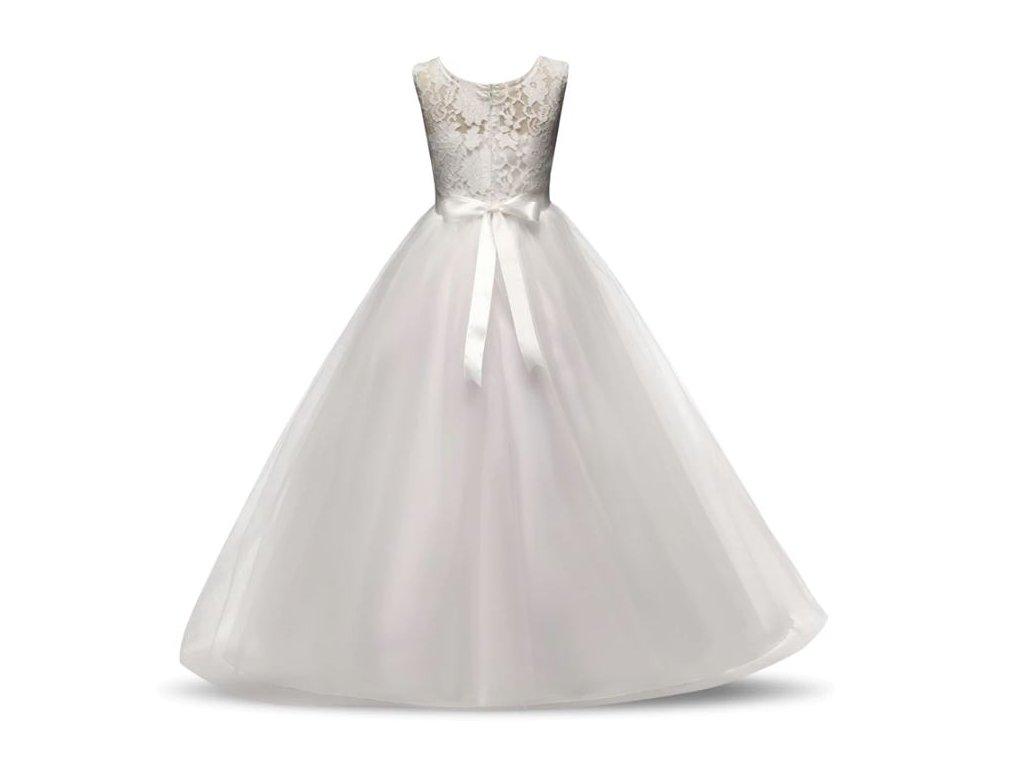Dlouhé společenské tylové šaty s mašlí - Mom   Kids 343d3b912d