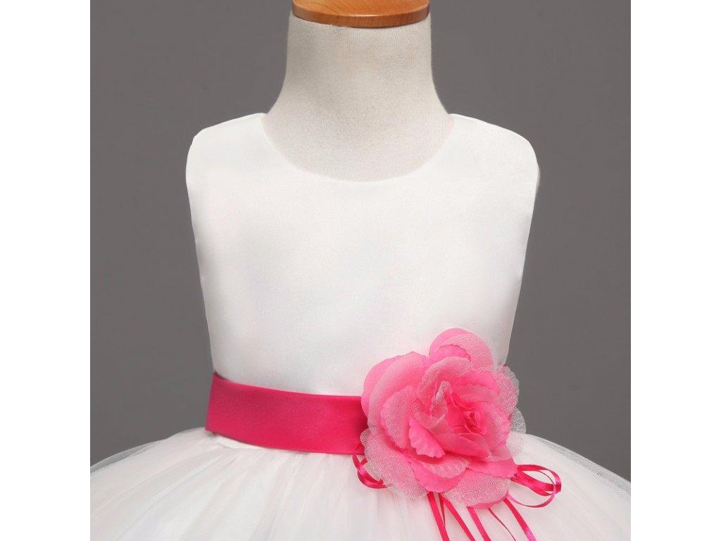 Bílé tylové šaty s barevnými květy - Mom   Kids ab694f373d9