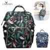 LEQUEEN přebalovací taška/batoh lístečky