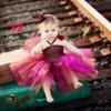 Dvouvrstvé šaty s tutu sukní a čelenkou
