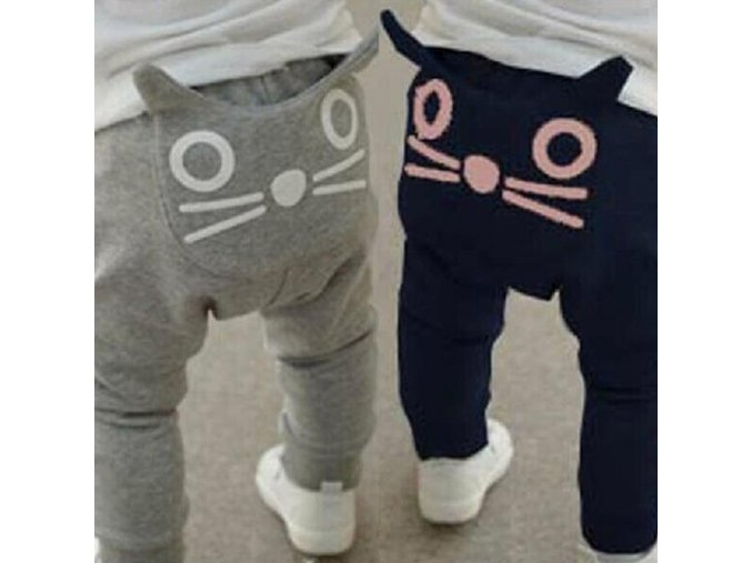 Cute Cartoon Pattern Baby Pants Boys Harem Pants Cotton Owl Trousers Spring and Autumn 2