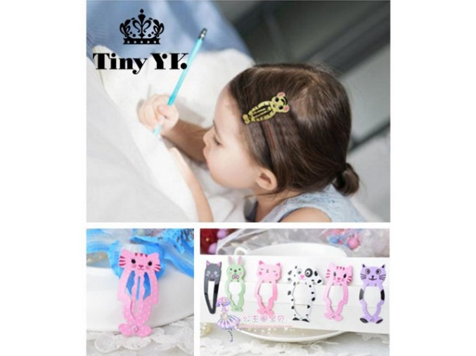 6pcs lot Fashion Girl Animal Hairpin headwear kid s barrettes Hair clips Jewelry Snap Clips Children 1
