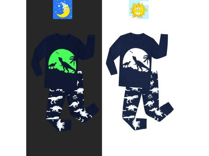 Boys Excavator Cartoon Pajamas Sets Kids Pyjamas Glow in the Dark Baby Pajamas Sets Kids Pijamas 1