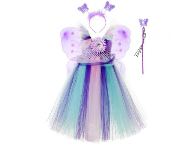 3 Vestido Infantil Real 2019 Girls Tutu Dress Baby Fluffy Tulle With Butterfly Wing Halloween Kids Party